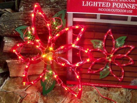 outdoor lighted poinsettia flower sign window yard light decoration 16 ebay