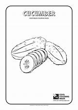 Cucumber Coloring Pages Cool Vegetables Print Garlic Plants sketch template