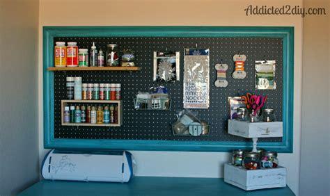 Craft Room Pegboard Organization  Addicted 2 Diy
