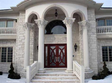 cast stone column porch columns front porch designs