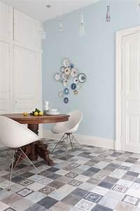 Sol Vinyle Carreau Ciment : sol vinyle imitation carreau de ciment pas cher ~ Dode.kayakingforconservation.com Idées de Décoration