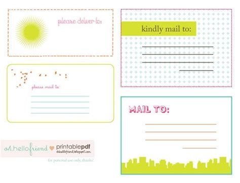 printable cute mailing labels mailing labels