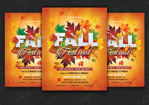 fall flyer templates sample templates