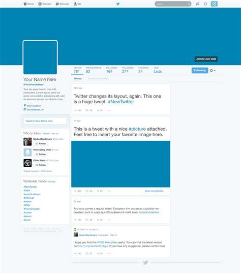 twitter psd template 2016 twitter 2014 gui new profile design psd download