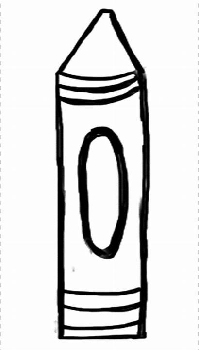 Crayon Clipart Template Stencil Crayons Blank Bulletin