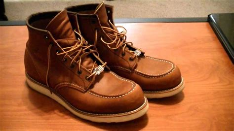 red wing shoes boot overview youtube