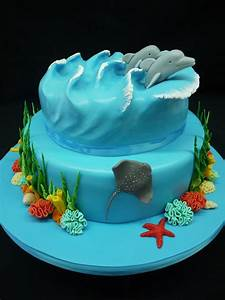 Ocean Inspired Cake - CakeCentral com