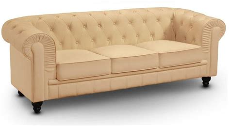 canap chesterfield beige canape chesterfield royal 3 places beige