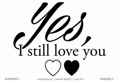 Liefde Still Tekst Yes Muursticker Teksten Sticker