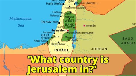 'what Country Is Jerusalem In?' Youtube