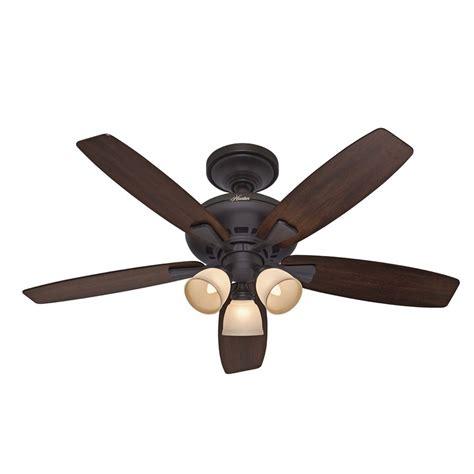 lowes ceiling fan light kit shop hunter 52 in winslow new bronze ceiling fan with