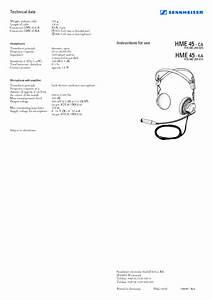 Headset Hme 45 - Ca Manuals