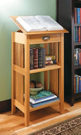 craftsman library stand woodsmith plans