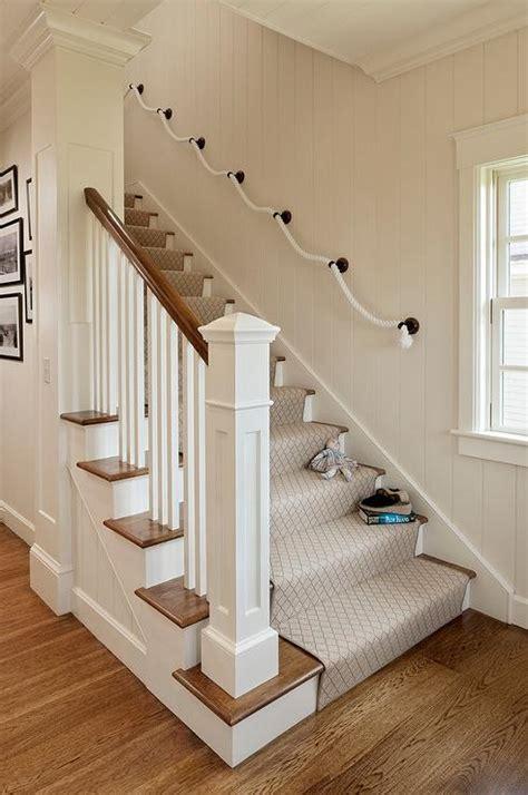 staircase  rope hand rail cottage entrancefoyer