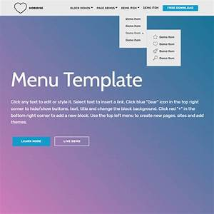 free html bootstrap menu template With bootstrap responsive templates free download
