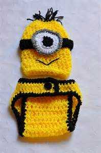 Crochet Baby Boy Minion Costume