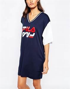 lyst fila oversized mesh basketball jersey dress