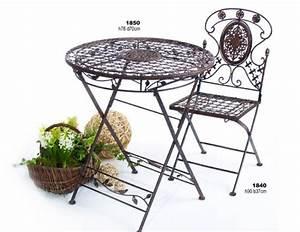 Tisch Mit 2 Stühlen : gartengarnitur avis 1 tisch mit 2 st hlen sitzgruppe klappbar metall antik ~ Indierocktalk.com Haus und Dekorationen