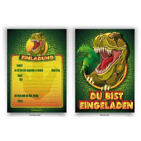 dinosaurier einladungen zum geburtstag  bestellen