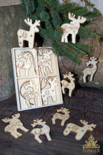 wooden reindeer decoration ebay