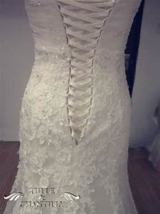 process show time romantic custom off the shoulder lace With lace up back wedding dress