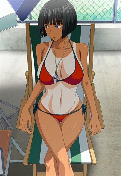 Rule 34 1girl Bangs Bikini Black Hair Blue Eyes Bokura