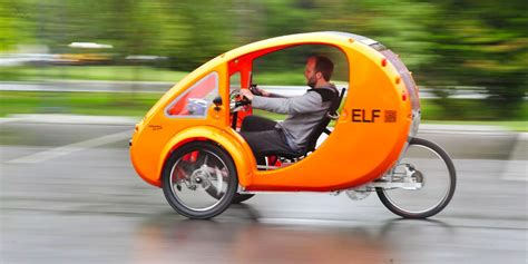 Solar Powered Electric Bike-cars Elf And Pebl Might Just
