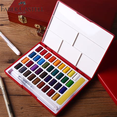 faber castell 24 36 48colors solid watercolor paint