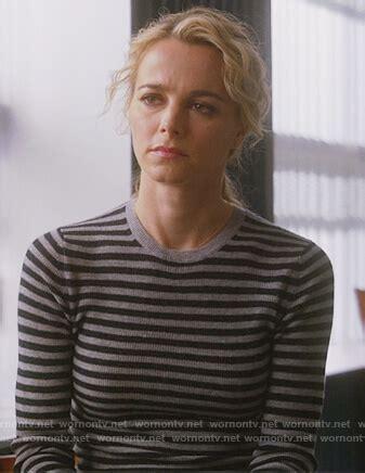 WornOnTV: Lizzie's gray and black striped sweater on ...
