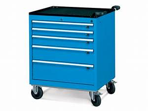 Wide 5 Drawer Mobile Cabinet - Tool Chests & Cabinets