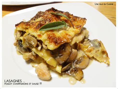 la sauge en cuisine lasagnes d 39 hiver au poulet aux chignons et à la sauge