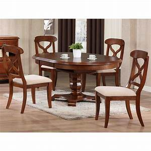 Sunset, Trading, -, 5, Piece, Andrews, Butterfly, Leaf, Dining, Table, Set, In, Chestnut