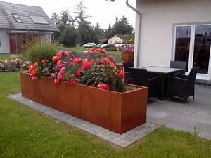 Hochbeet Im Garten : cortenstahl hochbeet ~ Lizthompson.info Haus und Dekorationen