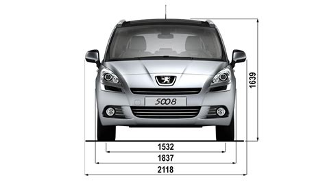 average width of a car peugeot 5008 technical data peugeot uk