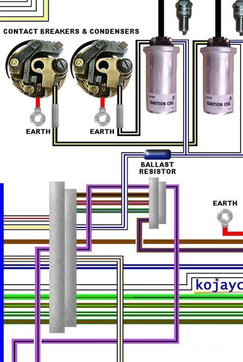 norton commando mk large colour laminated wiring diagram