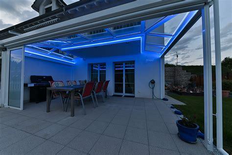 Indirekte Rgb Led Beleuchtung Beim Gartensitzplatz