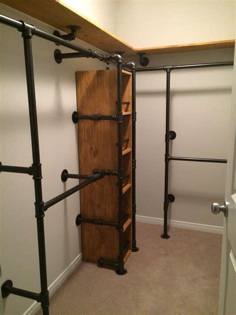 custom made black iron steel shelf diy pipe closet imgkid com the image kid has it