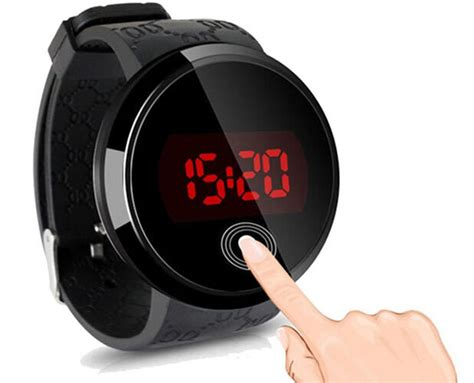 Fashion Waterproof Men's Led Touch Screen Day Date