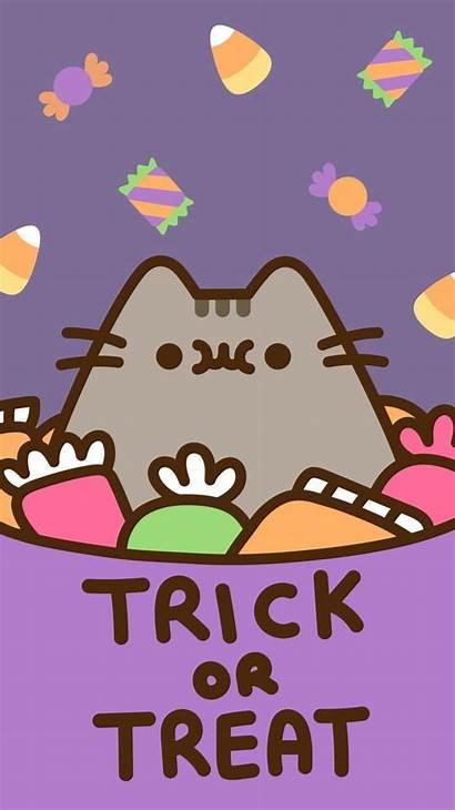 Pusheen Halloween Kawaii Cat Wallpapers Phone Backgrounds