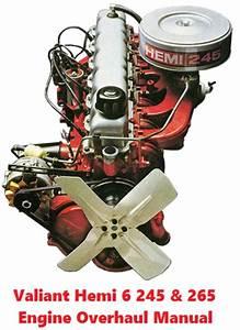 Chrysler Hemi 6 215  245  U0026 265 Engine Overhaul Manual
