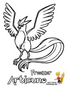 Legendary Pokemon Articuno Coloring Pages