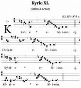 Kyrie XI   orbis facto...
