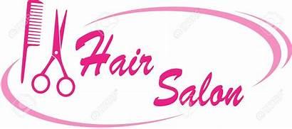 Salon Hair Clipart Sign Pink Vector Scissors