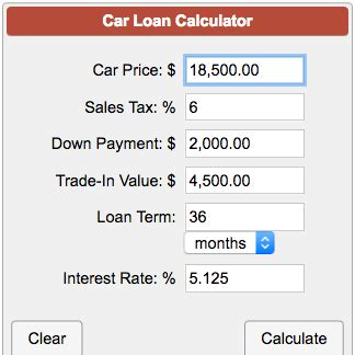 car loan payment calculator