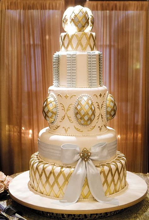 gold wedding cake ornate white and gold wedding cake wedding cakes photos brides