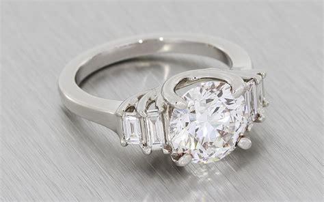art deco  stone diamond trellis ring durham rose