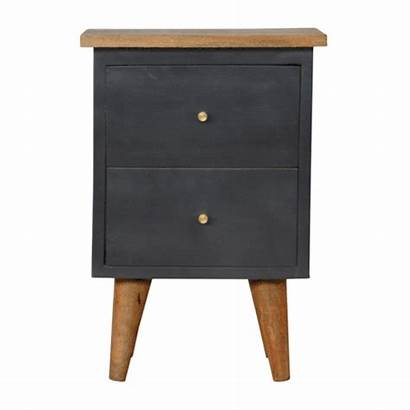 Painted Bedside Midnight Table Wood Solid Oak