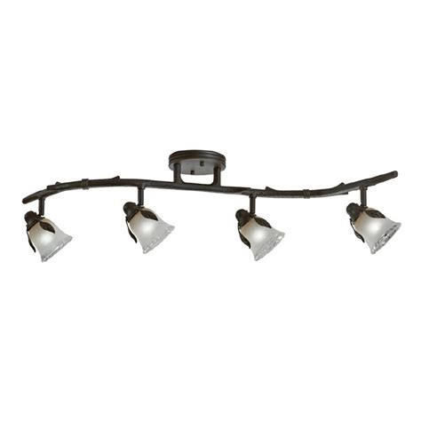 shop portfolio 4 light olde bronze rustic track lighting