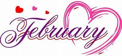 February Clipart Calendar Heading Clip Month Clipground