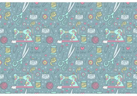 vintage sewing machine pattern vector